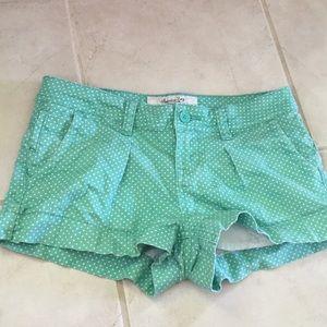Green Polka-Dot Shorts